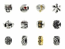 Beads Hunter Rose Charm Spacers Carriage Flower Mix Theme For European Bracelets