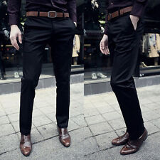Fashion Designed Straight Mens Slim Fit Casual Formal Pants Trousers 3 Colors