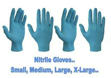 DISPOSABLE NITRILE GLOVES POWDER FREE SMALL MEDIUM LARGE X-LARGE  DISPOSABLE
