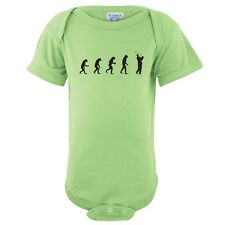Evolution of Man To Golfer Baby One Piece Infant Play Golf Creeper FREE S&H!