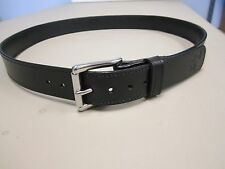 "1 1/2"" gun belt, heavy duty, solid bridle leather, stainless steel roller buckle"