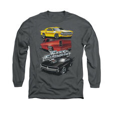 Fast And The Furious Muscle Car Splatter Adult Long Sleeve T-Shirt