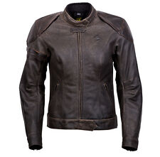 Scorpion Women Catalina Brown Leather Cruiser Motorcycle Jacket