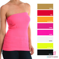 New Women's Sofra Tube Tops w/ Color Choices One Size Fits All Soft Stretchable