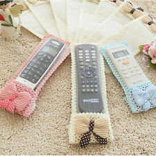 Remote Control Dustproof Bowknot Lace Case Cover Bags TV Air Condition Protector
