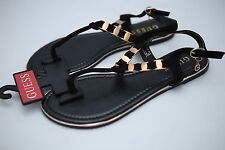 New Womens Guess RILEY T Strap Sandals Black Size 5 6 7 8 9 10 Summer Shoes