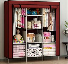 New Portable Bedroom Furniture Clothes Wardrobe Closet Storage Cabinet Armoires