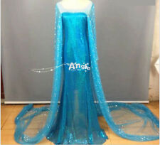 Snow Ice Queen Party Costume Cosplay Elsa Anna Dress Adult Lady Cinderalla