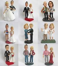 Custom Wedding Cake Topper - High End - Made to look like you - 100% Guarantee