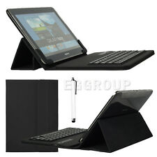 "New! Black Bluetooth Keyboard Leather Case For 7"" 10"" 10.1"" Tablets PC USA Stock"