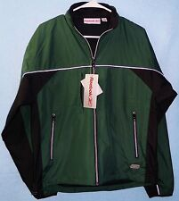 CLOSEOUT PRICE Men's Reebok Lightweight Reflective Green/Black Polyester Jacket
