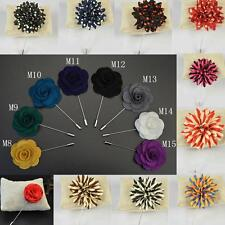 35Color Lapel Flower Daisy Handmade Boutonniere Brooch Pin Men's Accessories DIC