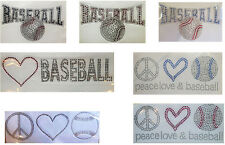 GOING OUT OF BUSINESS- BASEBALL RHINESTONE TRANSFERS