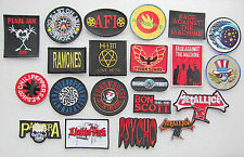 MUSIC BAND LOGO Heavy Metal Embroidered Iron on Applique Patches