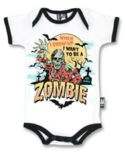 Six Bunnies Grow Up to be Zombie Baby Romper Bodysuit Funny Horror Costume Gift