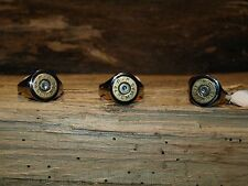 Handmade Men's (or ladies) Round Stainless Steel Brass 44 Mag Bullet Ring RM-108