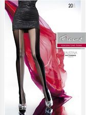 Fiore FAUSTINA 20 Den Two Tone High Contrast Patterned Fashion Sexy Pantyhose