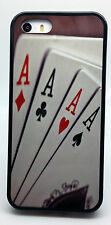 NEW TEXAS HOLDEM POKER 4 ACES CARDS CASE FOR iPHONE 6 6 PLUS 4 4S & 5C 5S COVER