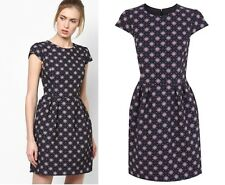 Miss Selfridge Tile Jacquard Tulip Dress RRP £45 Size 8 to 16