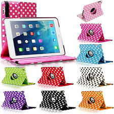 360 Rotating Polka Dot PU Leather Stand Case Cover For New iPad Air Mini 1 2 3 4