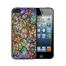 ★ DISNEY colour stained glass window character movie church Case back COVER ★