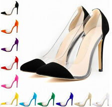 Transparent PVC High Heels Blogger Pumps Stiletto Gr. 35 36 37 38 39 40 41 42
