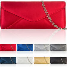 New Faux Leather Women Clutch Bag Bridal Designer Ladies Evening Party Prom