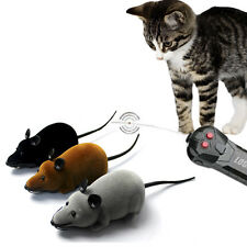 1pc Cute Lovely RC Wireless Remote Control Rat Mouse Toy for Cat Dog