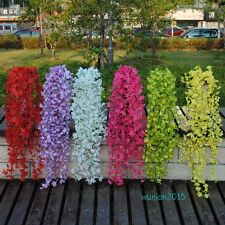Vine Artificial Silk Wall Hanging Winter Jasmine Flower Plant Home Party Decor