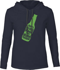 Too Much Blood in My Alcohol System (Green) Mens Fine Jersey Hooded T-Shirt