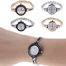 Lady Women Gold Silver Bling Crystal Stainless Steel Bracelet Quartz Wrist Watch
