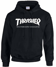 THRASHER MAGAZINE HOODY BLACK/WHITE FREE DELIVERY