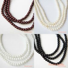 160pcs/ 800pcs (5mm) Colors Strands Glass Pearls Loose Beads Round Craft DIY