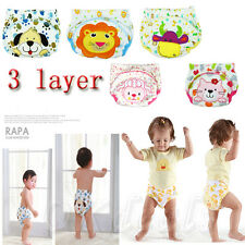 Toilet Pee Potty Training Pants Cloth Diaper Underwear For Baby Boy Girl USTGS