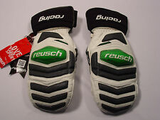 Reusch RaceTec13 Giant Slalom Ski Racing All Leather Mittens 4211411GREEN INV
