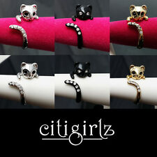 Gift Rings for Girls & Women- Adjustable Kitty Cat Rings-Free Gift Box