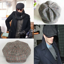 Men Retro Baker Boy Hat Newsboy Gatesby Tweed Country Golf Sun Flat Beret Cap