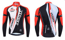 New Red Men's Cycling Jersey Mountain Bike Cycling Long Sleeve Racing Jersey Top