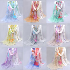 Super Thin Womens Chiffon Scarf Soft Long Summer Beach Wraps Scarves Shawl
