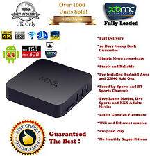KODI Quad Core Android TV Box Fully Loaded Free Sports Movies TV + i8 Fly Mouse
