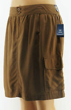 Izod Womens Plus Brown Linen Blend Cargo Skirt