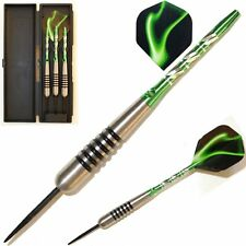 GREEN PALLAS TUNGSTEN DART SET - Unicorn Stems, Lightning Flights - 22g-30g