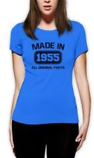 60th birthday Gift Made In 1955 Women T-Shirt Father's Day Distressed Funny Tee