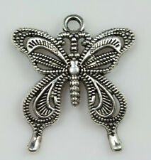 30pcs Tibet Silver Beautiful Hollow Out Big Butterfly Vogue Charm Pendant  Free