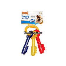Nylabone Puppy Teething Keys Dog Chew Toy Cleans Teeth