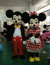 MICKEY MOUSE MINNIE MOUSE Mascot Cosplay Costume Adult Fancy Dress EMS