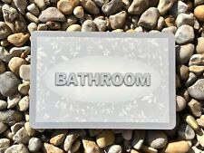 BATHROOM TOILET LOO Silver Shabby Chic Metal Door Sign + ADD OWN TEXT Option