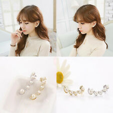 NEW Fashion Girl Personality Fashion Pearl Earrings The Left Ear Only Earring
