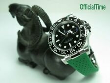OT AK End Link & Breathable Rubber Strap Band fit Rolex GMT Master II #116710