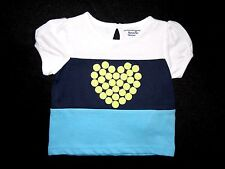 Hartstrings Infant/Toddler Baby Girls Color Block Tennis Short Sleeve Top